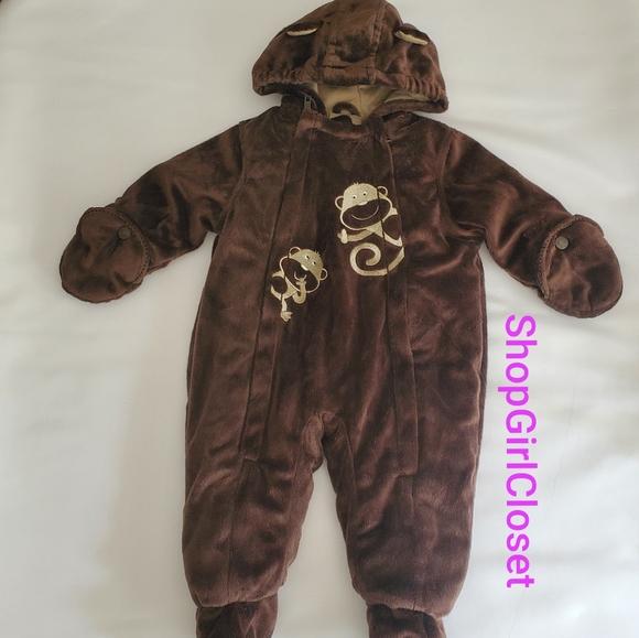 Carter's Other - Carter's Monkey Snowsuit sz 6-9M